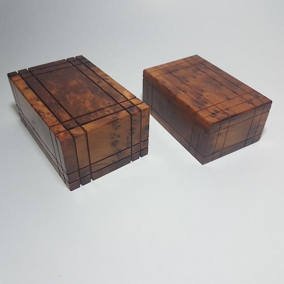 Brain Teaser Puzzle Box Secret Thuya Wood Moroccan Hide Stuf