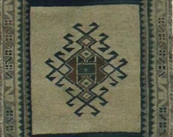 Vintage Anatolian Tribal Rug 2x3