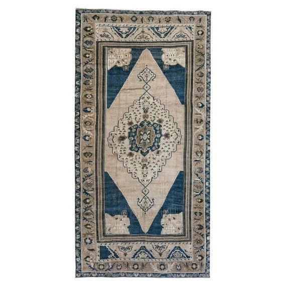 4x6 Vintage Anatolian Distressed Tribal Konya Rug