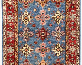 Caucasian Hand Knotted Tribal Rug 5x7