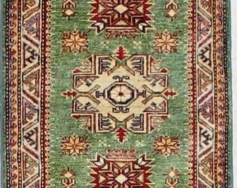 Caucasian Hand Knotted Tribal Rug 2x3