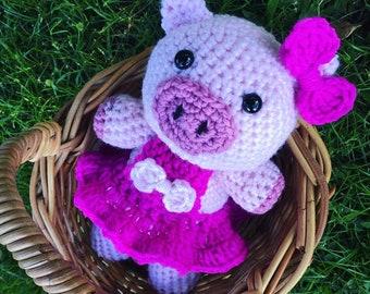 Crochet 'Peony' the Piggy