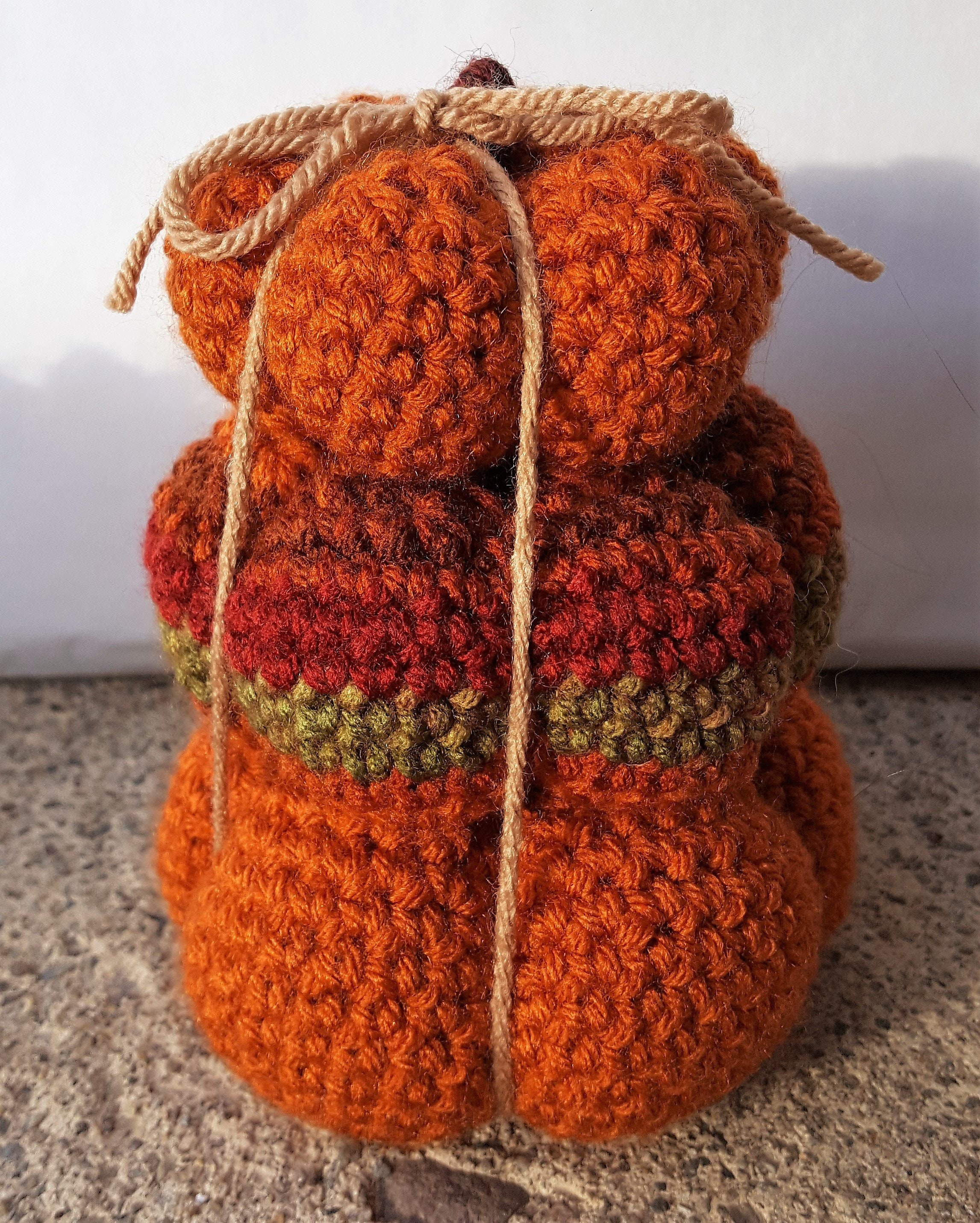 Crochet Pumpkins Stuffed Set Of 3 Pumpkins 3 Sizes Small Etsy
