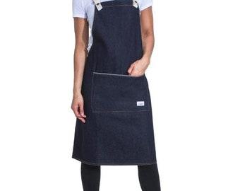 Vintage wash chef barista denim apron DIDSBURYVW USKEES DIDSBURY Tablier Jean