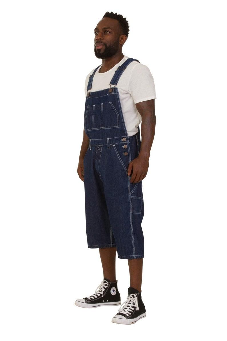 Indigo Blake Mens Dungaree Shorts