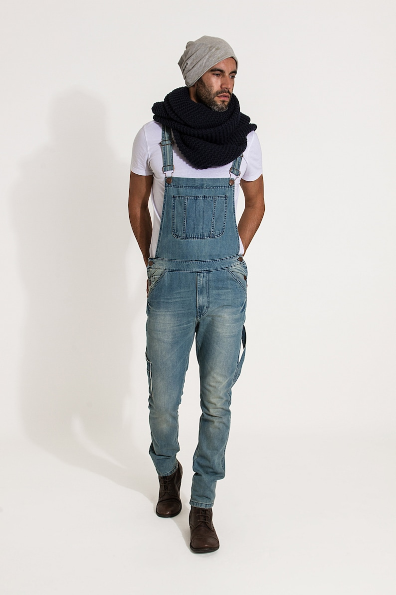 Toby Slim Fit Dungarees Aged Blue