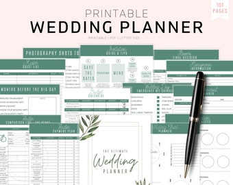 Wedding Planner Bride Organization Premium Smyth-Sewn Planner Premium Keepsake Wedding Planner Pretty Floral Wedding