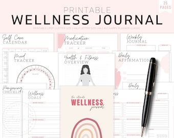 Self Care Journal, Self Care Kit, Self Care Planner, Self Care Worksheet, Wellness Planner, Mental Health Journal, Mood Tracker, Workbook