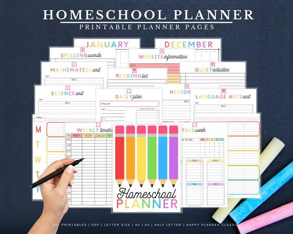 Homeschool Planner Homeschool Printable Homeschool Schedule