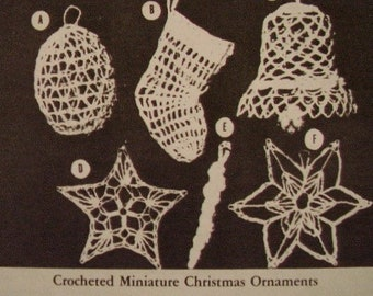Miniature Crocheted Christmas Ornaments