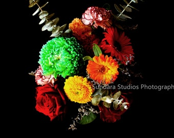 Beautiful Bouquet of Mixed Flowers Image