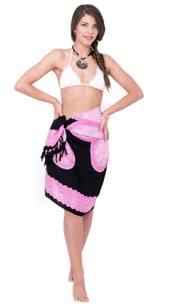 Brosche *TOP* Sarong Pareo Wickelrock Lunghi Dhoti Tuch Strandtuch Box