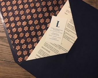 Doublure d'enveloppe de cuivre/Navy