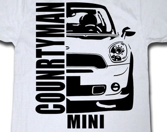 MINI COUNTRYMAN Mans Evolution T-Shirt® Ape to Countryman Mens Charcoal Grey.