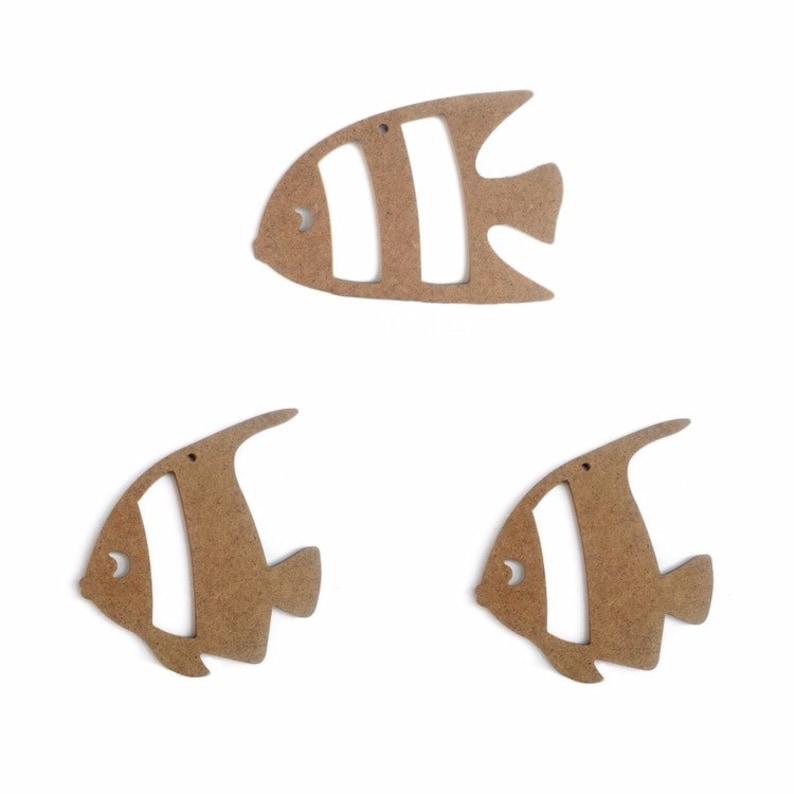 wooden fish wall art wooden fish decor fish cutout Laser cut MDF wood fish wooden fish cutouts wood fish cutout set of 3 mdf fish