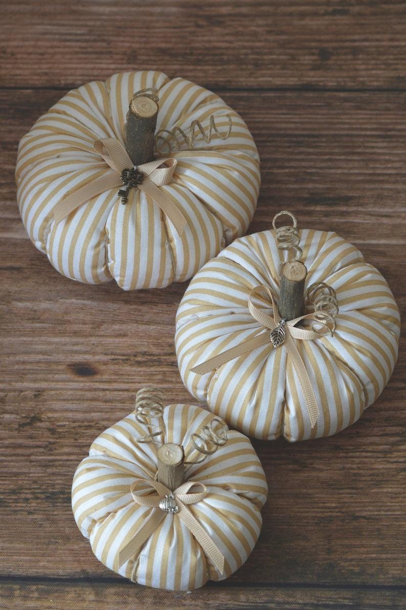 fall decor Farmhouse pumpkin fall table decor autumn decororation fabric pumpkins farmhouse pumpkins Halloween decor