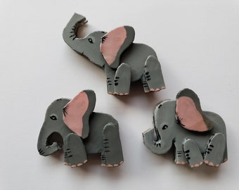 The Three Trumpeteers (Set of 3 elephant magnets)