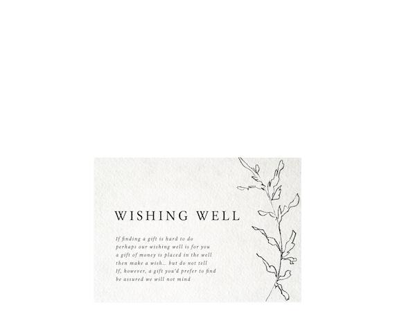 Editable Wishing Well Wedding Template Diy Wishing Well Card Etsy