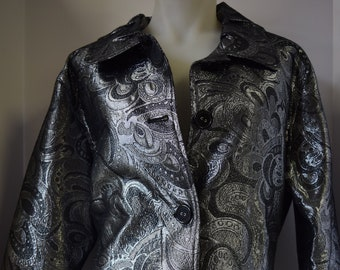 Chico's Silver Jacket - Size 3XL