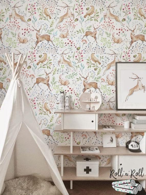 Tapeten Kinderzimmer Wald