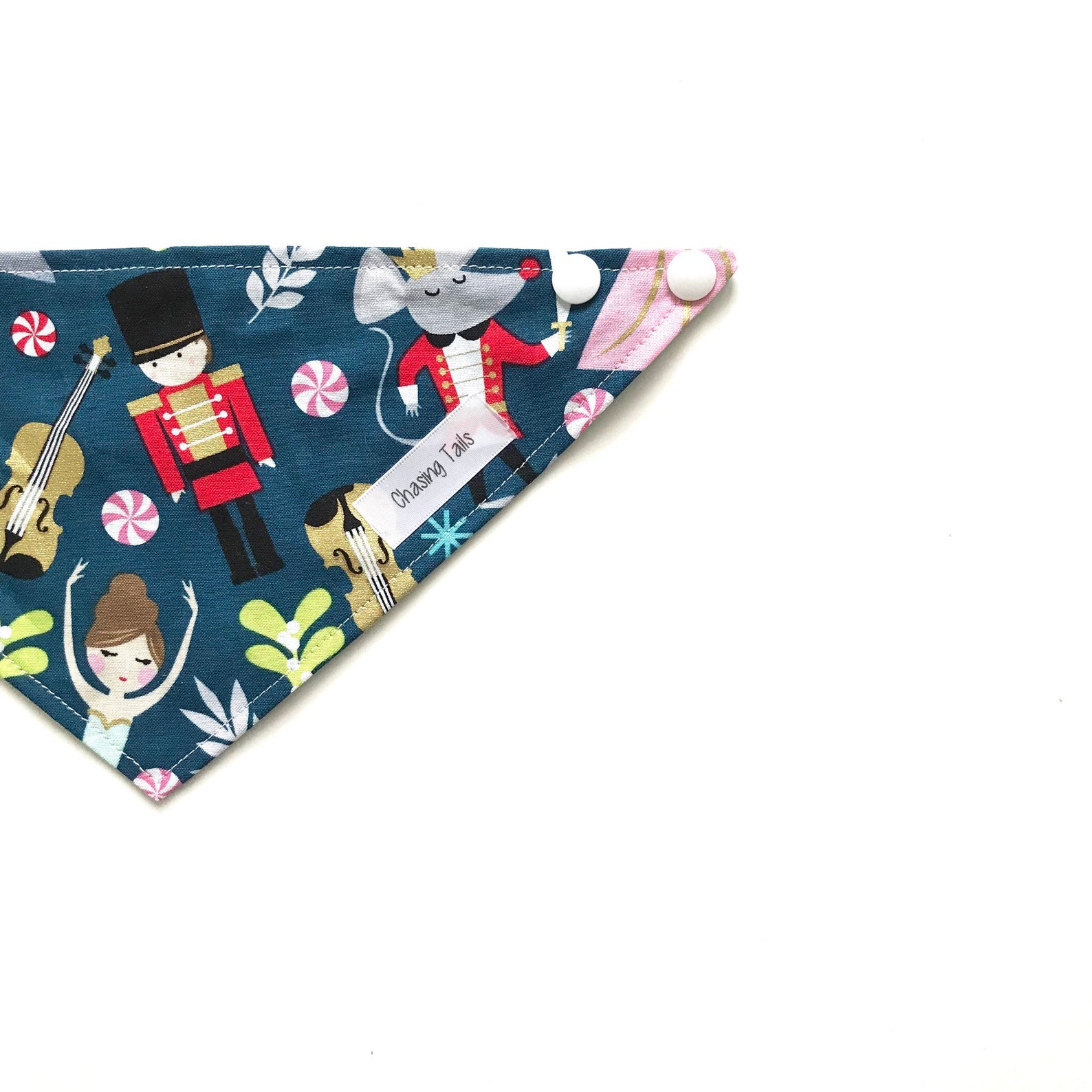 nutcracker ballet pet bandanna dog bandanna cat bandanna snap bandanna