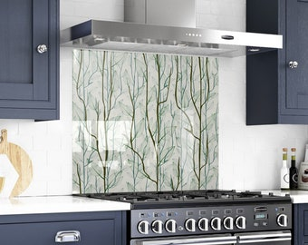 Set Of Four Ocean Wave Backsplash Tiles In The Colors Of The Etsy
