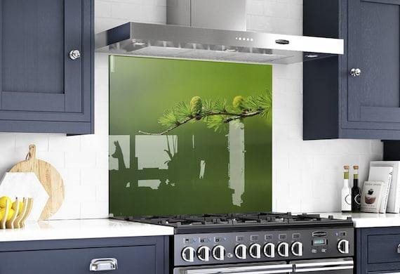 Glass Art, Kitchen Wall Decor, Modern Kitchen, Backsplash Mural, Solid  Glass, Custom Made, DIY backsplash, Tempered Glass, Solid
