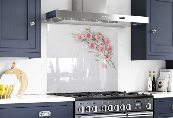 Flower Wall Art Diy Backsplash Kitchen Decor Etsy