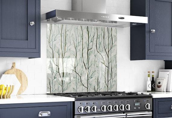 Kitchen Wall Decor Modern, Tempered Glass Backsplash Malaysia