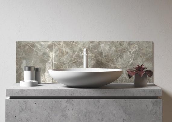 Bathroom Sink Backsplash Diy Bathroom Backsplash Easy Bathroom Backsplash Bathroom Tile Backsplash Tile Bathroom Decor Tile Bathroom