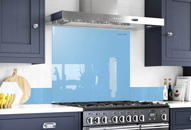 Behind The Stove Backsplash Tempered Glass Diy Solid Glass Etsy