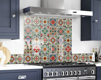Custom Made, Solid Tempered Colored Glass, Kitchen Oven Cooker, Behind the Range, Backsplash Modern, Easy to Clean, Unique, Stylish,