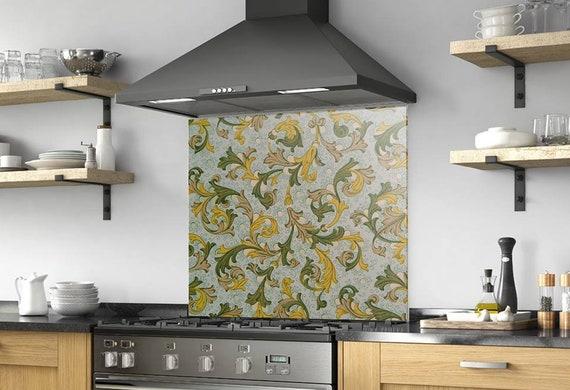 Kitchen Wall Decor, Modern Kitchen, Backsplash Mural, Backsplash Tiles,  Solid Glass, Custom Made, DIY backsplash, Tempered Glass,