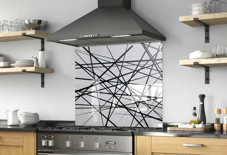 Abstract Print Kitchen Backsplash DIY Splashback Kitchen ...