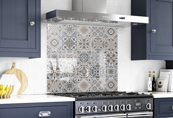Albero Di Natale Kitchen.Glass Tile Kitchen Backsplash Behind The Stove Decor Solid Etsy