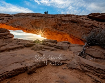 Masa Arch Sunrise in Canyonlands National Park Utah Photo Print