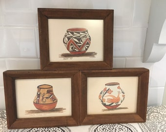 VINTAGE POTTERY DRAWINGS