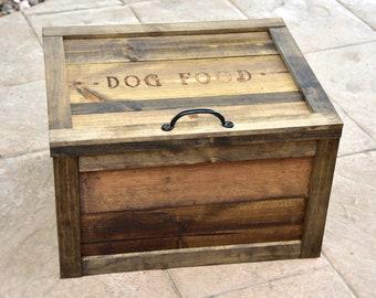 Attirant Wooden Dog Food Storage Bin
