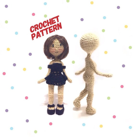 Crochet doll Pattern | amigurumi doll | doll basic body | Photo ... | 570x570
