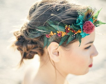 flower crown with natural string
