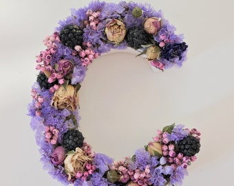 Flowery letter in dried flowers [PETITE SAUVAGE]