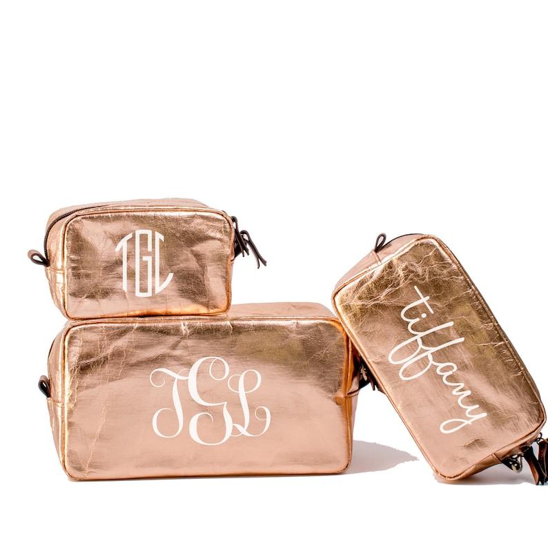 5efcb7549ca5 Monogram Makeup Bag Set / Personalized Toiletry Bag / Custom Cosmetic Bag  Set of 3 / Sm. Med. & Large Cosmetic Bag / Custom Makeup Bags
