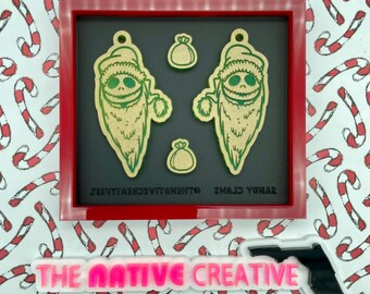 Sandy Claws Jack Earrings Palette with Earring Studs Silicone Mold for Resin Crafting * Made to Order