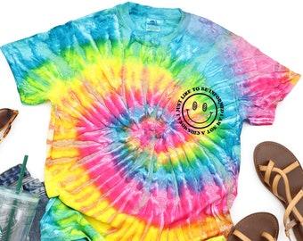 I am not a chismosa tee, latina inspired tshirt, tie dye tee, cute latina tee, chismosa t-shirt, spanglish shirt, simply latina, latin chic