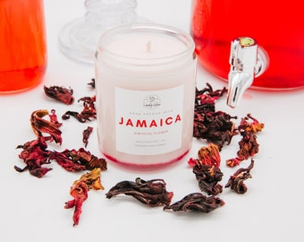 Agua Fresca candle, 8oz candle, Scented soy candles, Jamaica candle, Hibiscus candle, Natural soy candle, Latina candle, Vela de Soja, Velas