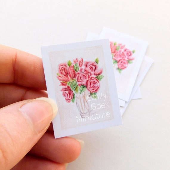 MADE IN AMERICA FAST DELIVERY CLAUDE MONET TULIPS Miniature Dollhouse Picture