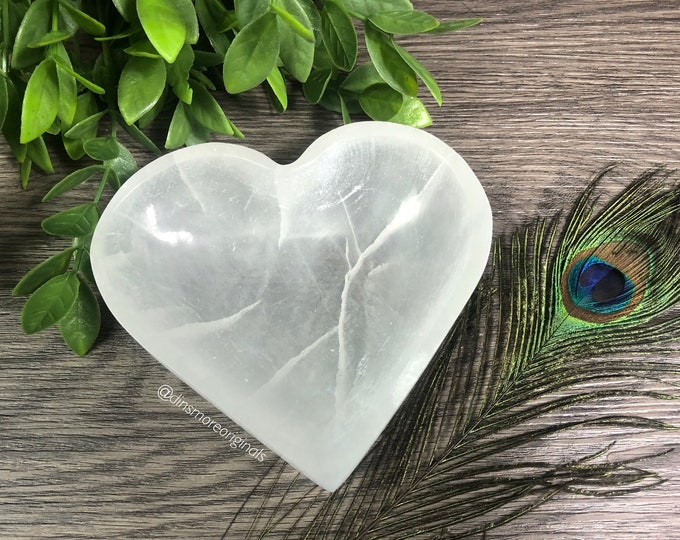 Featured listing image: Heart Selenite Bowl *Re-Charging. Cleansing. Positivity*