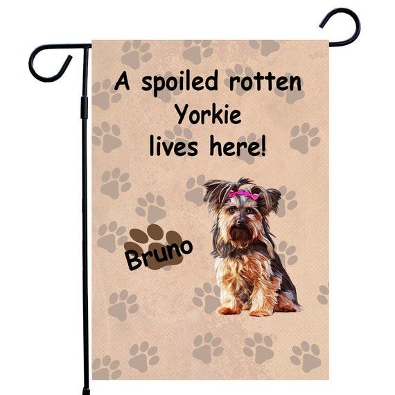 Yorkshire Terrier Dog Garden Flag Custom Dog Photo House | Etsy