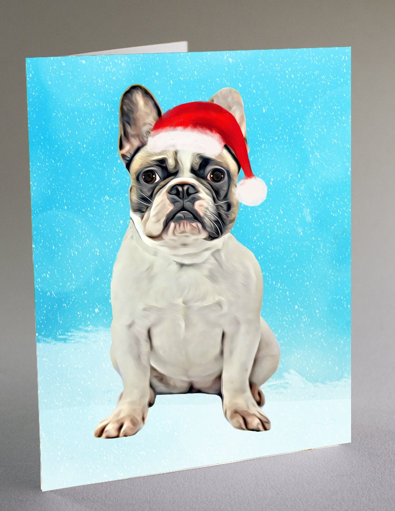 French Bulldog Christmas Cards dog greeting cards dog photo | Etsy