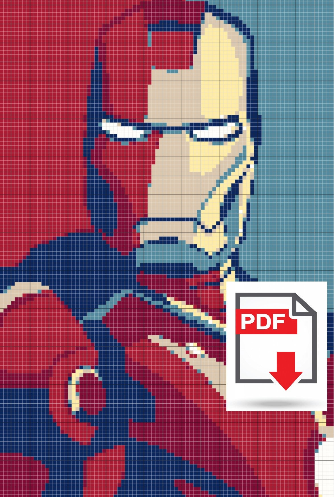 Iron Man Cross Stitch Pattern Pdf Download Geeky Nerdy Etsy Circuit Superhros Marvel Comics Logostore Avengers Disney Superheroes